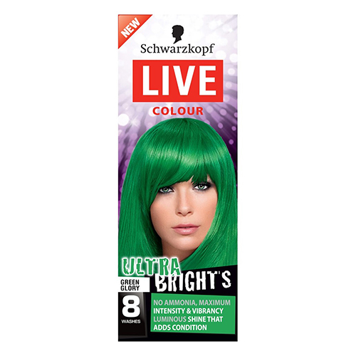 Image for Live Colour Ultra Brights Green Glory Hair Colour from Amcal