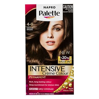 Image for Napro Palette Hair Colour 4-0 Medium Brown from Amcal