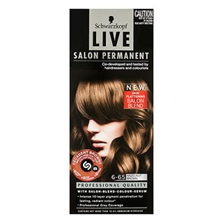 Image for Schwarzkopf Live Salon Permanent 6-65 Hazelnut Brown from Amcal