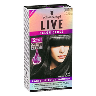 Image for Schwarzkopf Live Salon Gloss 1-0 Coffee Black from Amcal