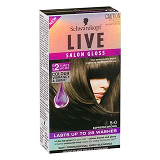 Image for Schwarzkopf Live Salon Gloss 5-0 - Espresso Brown from Amcal
