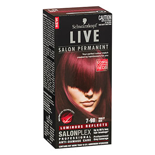 Image for Schwarzkopf Live Salon Permanent 7-98 - Violet Red from Amcal