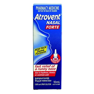 Image for Atrovent Nasal Forte Spray - 10mL from Amcal