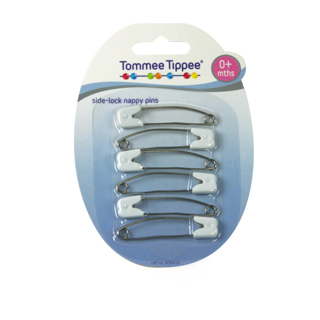 Image for Tommee Tippee Safety Pins with Side Lock 0+ Months - 6 Pack from Amcal