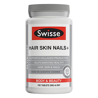 Image for Swisse Ultiboost Hair Skin Nails - 100 Tablets from Amcal