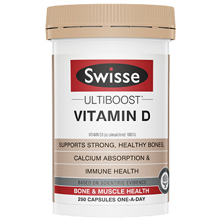 Image for Swisse Ultiboost Vitamin D - 250 Capsules from Amcal