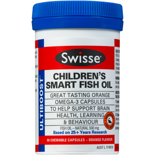 Swisse ultiboost children smart fish oil 90 capsules amcal for Fish oil for children