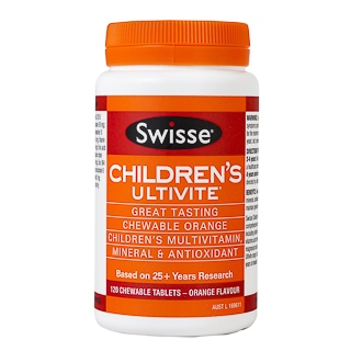 Image for Swisse Children's Ultivite Chewable - 120 Tablets from Amcal