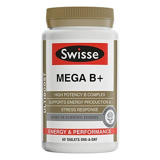 Image for Swisse Ultiboost Mega B+ - 60 Tablets from Amcal