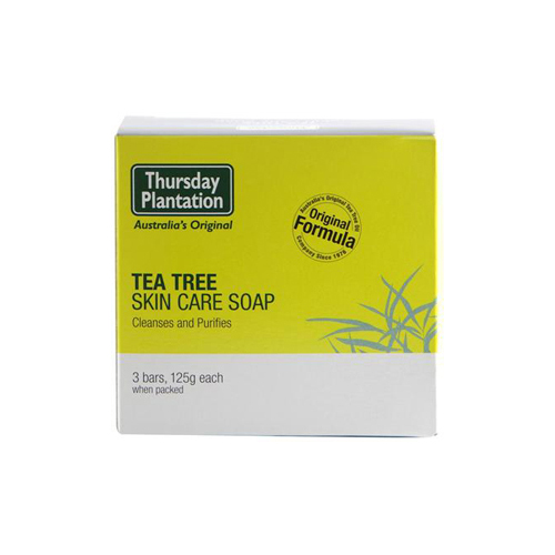NEW Thursday Plantation Soap Tea Tree 3 X 125g