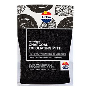 Image for Le Tan Activated Charcoal Exfoliating Mitt from Amcal
