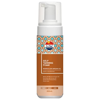 Image for Le Tan Self Tanning Foam Moroccan Argan Oil - 200mL from Amcal