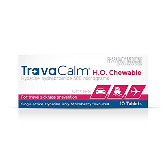 Image for Travacalm HO Strawberry - 10 Tablets from Amcal