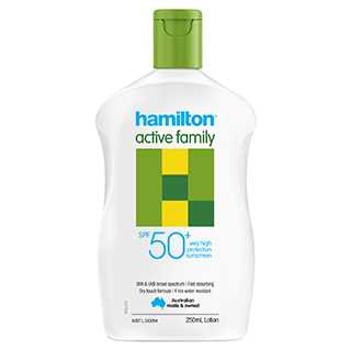 Image for Hamilton Sun Active Family Lotion SPF 50+ - 250ml from Amcal