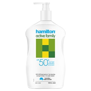 Image for Hamilton Active Family Lotion SPF50+ - 500ml from Amcal