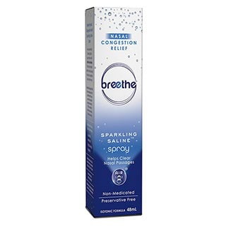 Image for Breethe Nasal Congestion Relief Sparkling Saline Spray - 48mL from Amcal