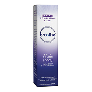 Image for Breethe Nasal Congestion Relief Saline Spray - 50mL from Amcal