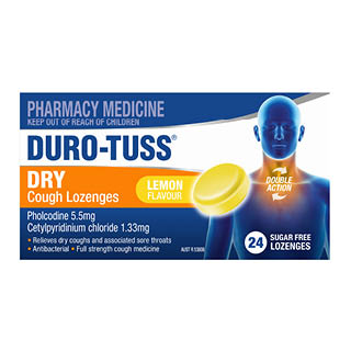 Image for Duro-Tuss Cough Lemon Sugarfree - 24 Lozenges from Amcal