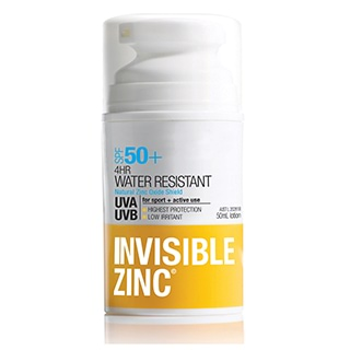 Image for Invisible Zinc 4Hr Water Resistant SPF 50+ Sunscreen - 50mL from Amcal