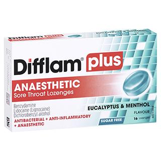 Difflam Plus Sore Throat Menthol And Eucalyptus 16