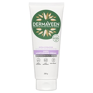 Image for DermaVeen Extra Hydration Sheer Moisturising Cream - 200g from Amcal