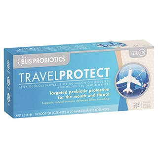 Image for Blis Probiotics Travel Protect Vanilla - 30 Lozenges from Amcal