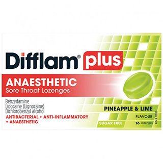 Image for Difflam Plus Anaesthetic Pineapple & Lime - 16 Lozenges from Amcal