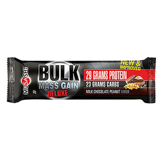Image for Musashi Bulk Mass Gain Deluxe Bar Chocolate Peanut - 90g from Amcal