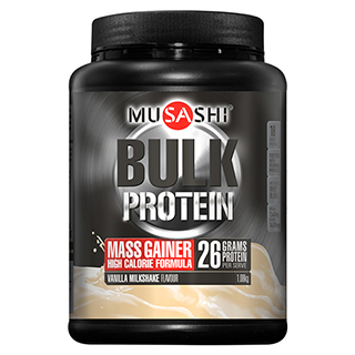 Image for Musashi Bulk Mass Gain Vanilla Protein Powder- 1. 08Kg from Amcal