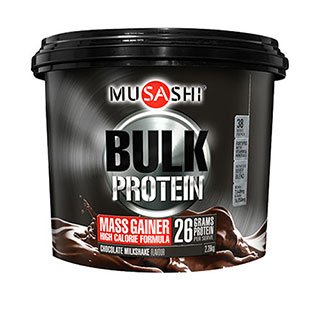 Image for Musashi Bulk Mass Gain Protein Powder Chocolate Milkshake - 2. 28Kg from Amcal