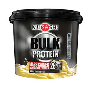 Image for Musashi BULK Mass Gain Protein Powder Banana Milkshake - 2.28kg from Amcal