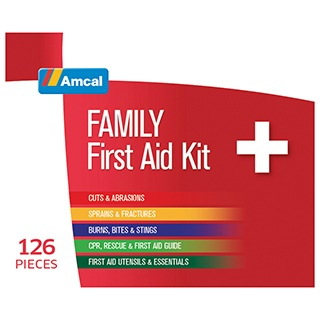 Image for Amcal Family First Aid Kit - 126 Pieces from Amcal