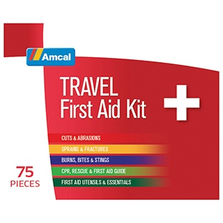 Image for Amcal Travel First Aid Kit - 75 Pieces from Amcal