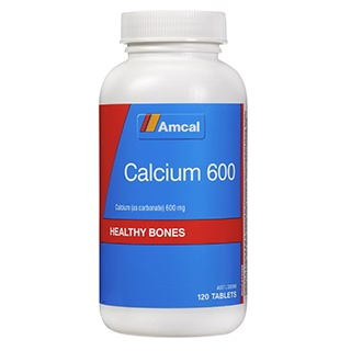 Image for Amcal Calcium 600 - 120 Tablets from Amcal
