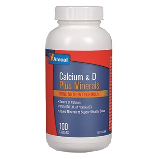 Image for Amcal Calcium & D Plus Minerals - 100 Tablets from Amcal