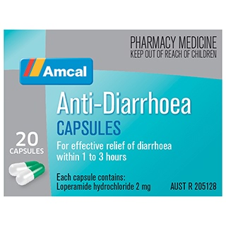 Image for Amcal Anti Diarrhoea - 20 Capsules from Amcal
