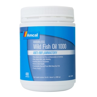 Image for Amcal Wild Odourless Fish Oil 1000 mg - 400 Capsules from Amcal