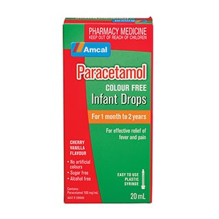Image for Amcal Paracetamol Infant Drops Colour Free - 20ml from Amcal