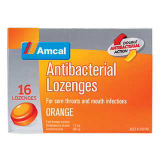 Image for Amcal Antibacterial Lozenges Orange - 16 Pack from Amcal