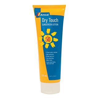 Image for Amcal Sunscreen Dry Touch SPF 50 - 125mL from Amcal