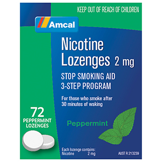 Image for Amcal Nicotine Lozenges 2mg - 72 Pack from Amcal