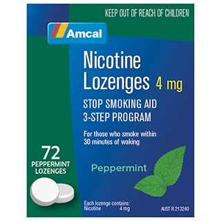 Image for Amcal Nicotine Lozenges 4mg -72 Pack from Amcal