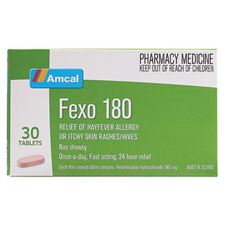 Image for Amcal Fexo 180 - 30 Tablets from Amcal