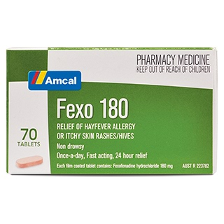 Image for Amcal Fexo 180 - 70 Tablets from Amcal