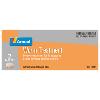 Image for Amcal Worm Treatment - 2 Tablets from Amcal