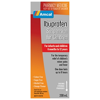 Image for Amcal Ibuprofen Suspension - 200ml from Amcal