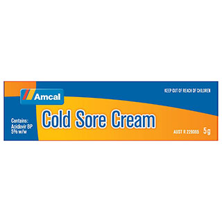 Image for Amcal Cold Sore Cream - 5 g from Amcal