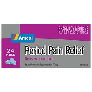 Image for Amcal Period Pain Relief - 24 Tablets from Amcal