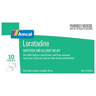 Image for Amcal Loratadine 10Mg - 10 Tablets from Amcal