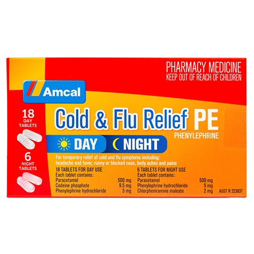 Image for Amcal Cold & Flu Day/Night Pe - 24 Tablets from Amcal